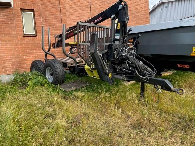 Palms Skogsvagn 6 ton med P2.54-kran, Skogsvagnar, Skogsmaskiner