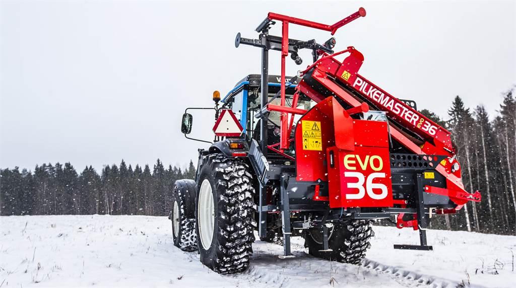 Pilkemaster EVO 36, Vedklyvar och vedkapar, Skogsmaskiner