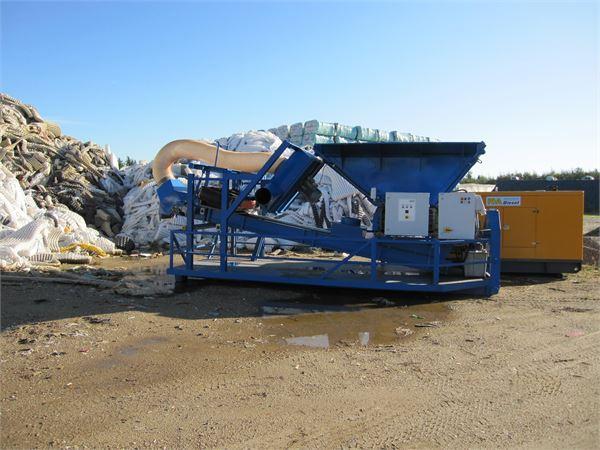 Untha RS40 i kroghejsramme, Waste Shredders, Construction