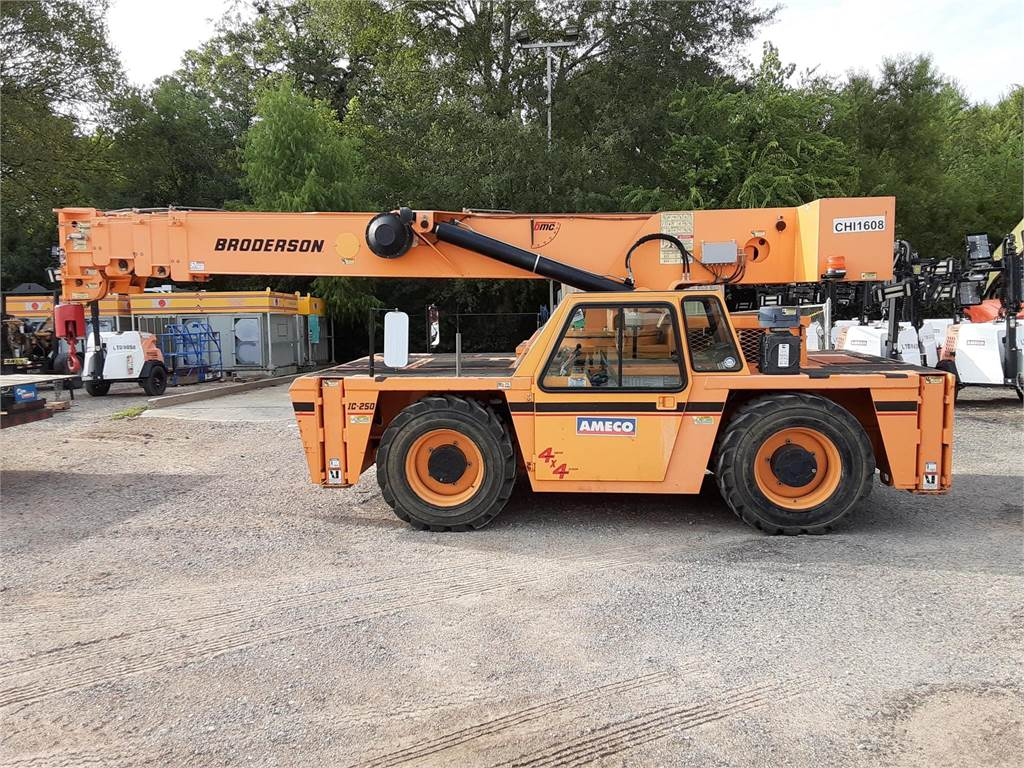 Broderson IC250, Mobile and all terrain cranes, Construction Equipment