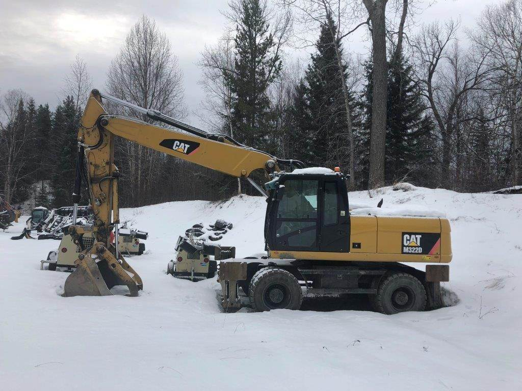 Caterpillar M322D, Wheeled Excavators, Construction Equipment