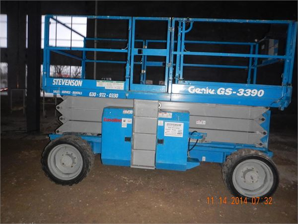 Genie GS3390RT, Scissor Lifts, Construction Equipment
