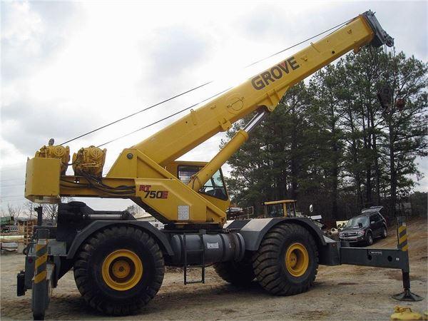 Grove RT750E, Rough Terrain Cranes, Construction Equipment
