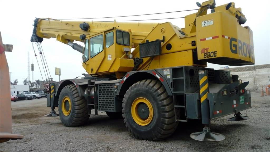 Grove RT890E, Rough Terrain Cranes, Construction Equipment