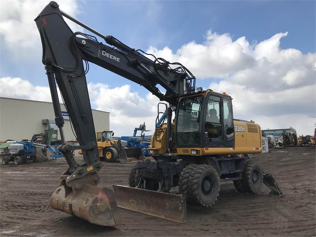 John Deere 220DW, Wheeled Excavators, Construction Equipment