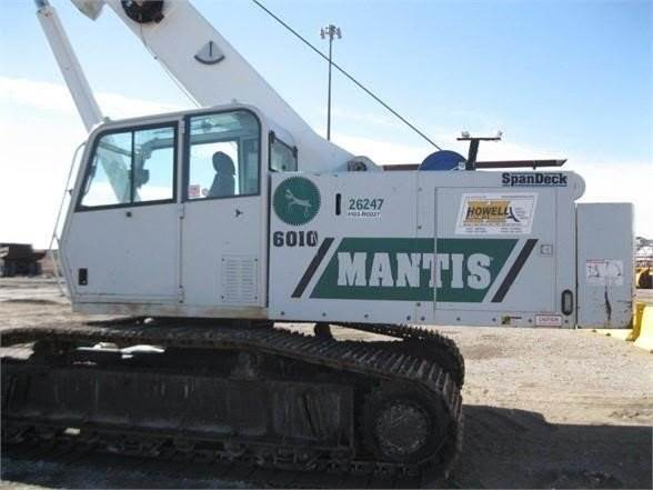 Mantis 6010, Booms and dippers, Construction Equipment