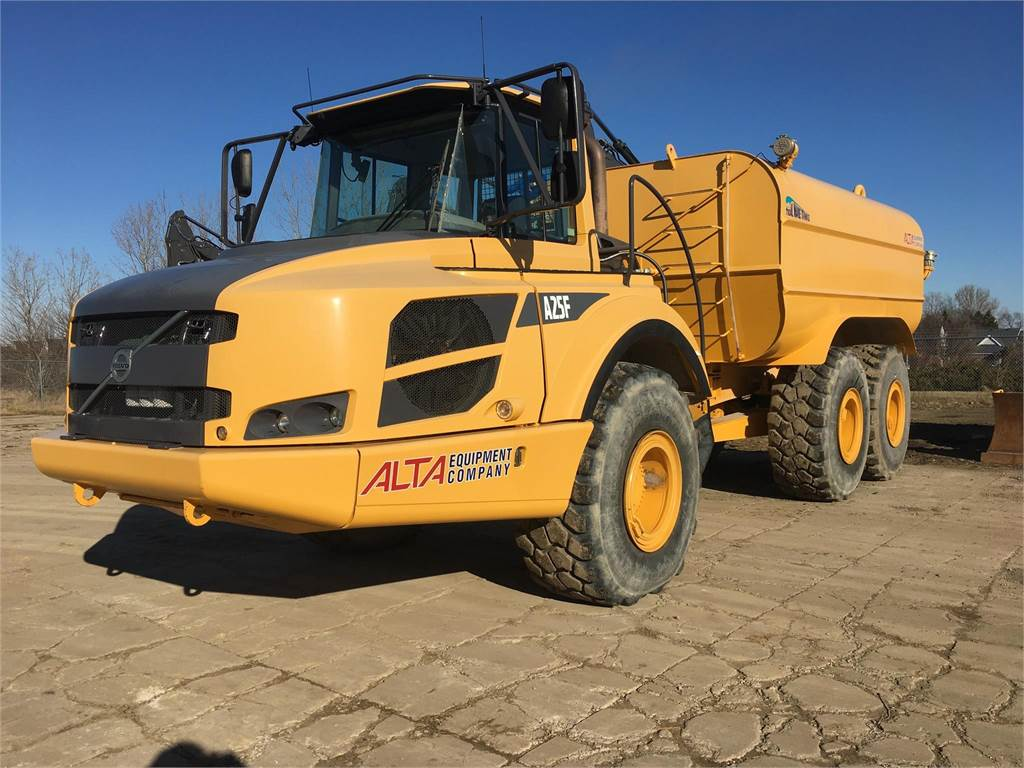 Volvo A25F, Water Trucks, Construction Equipment