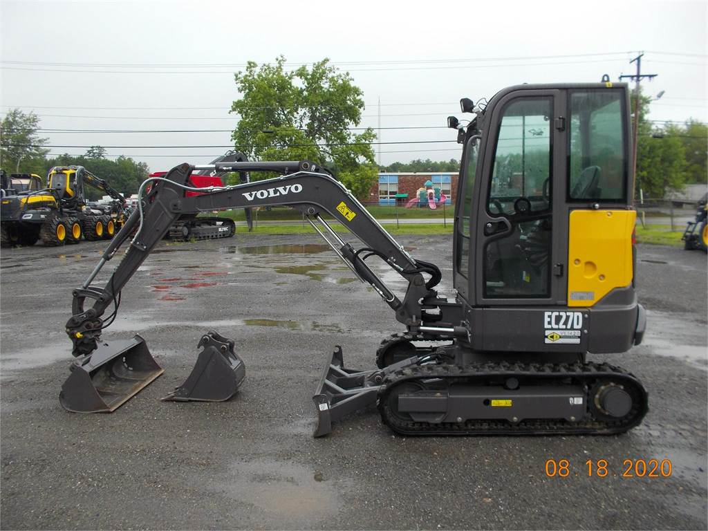 Volvo EC27D, Compact Excavators, Construction Equipment