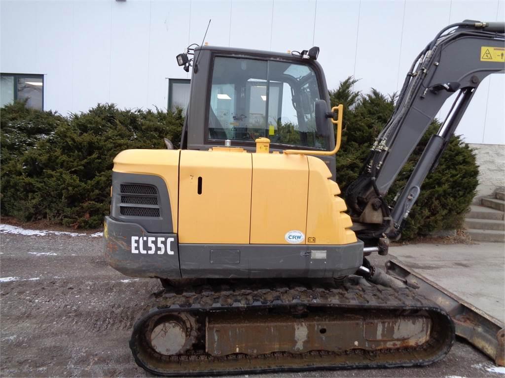 Volvo EC55C, Compact Excavators, Construction Equipment