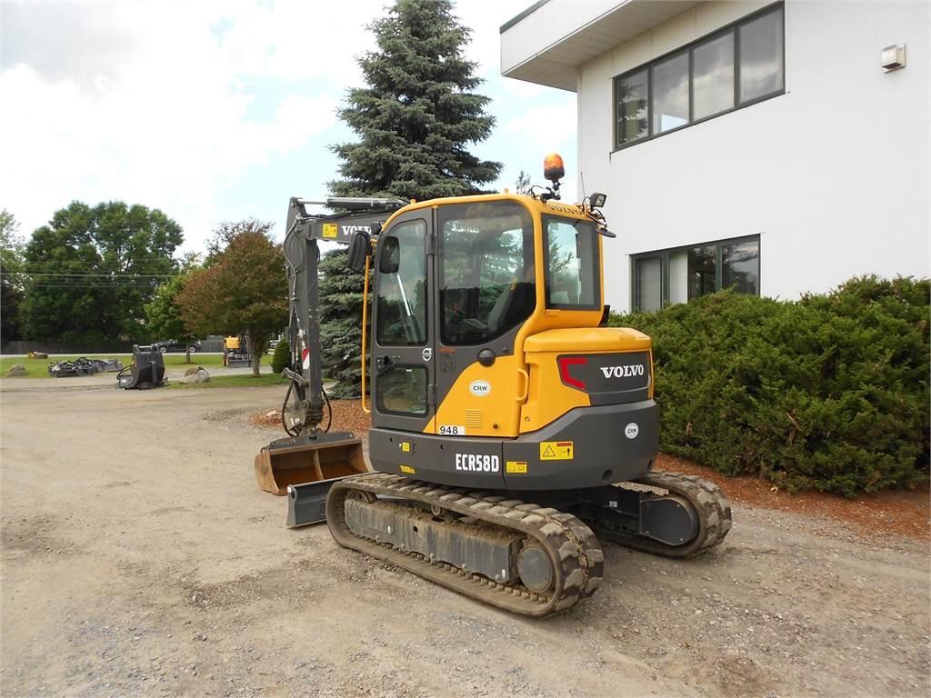 Volvo ECR58D, Mini Excavators, Construction Equipment