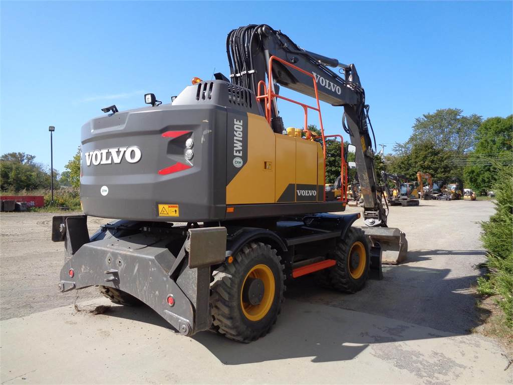 Volvo EW160E, Wheeled Excavators, Construction Equipment