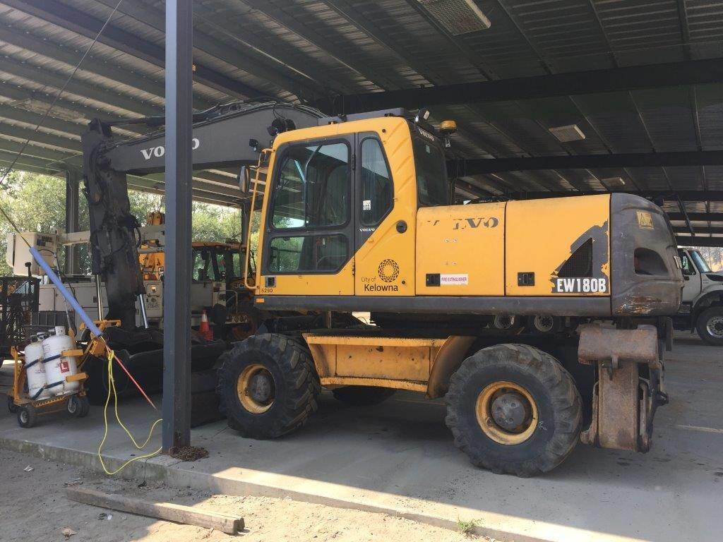 Volvo EW180B, Wheeled Excavators, Construction Equipment