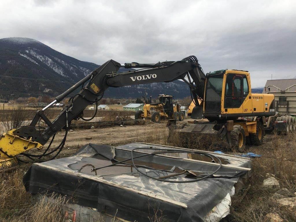 Volvo EW180B, Wheeled Excavators, Construction Equipment