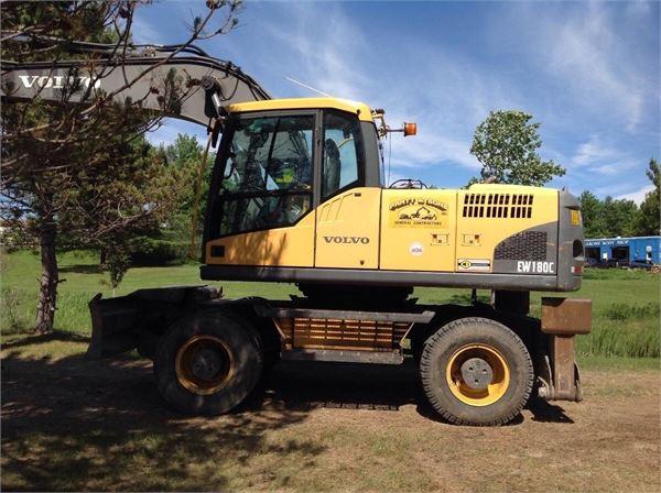Volvo EW180C, Wheeled Excavators, Construction Equipment