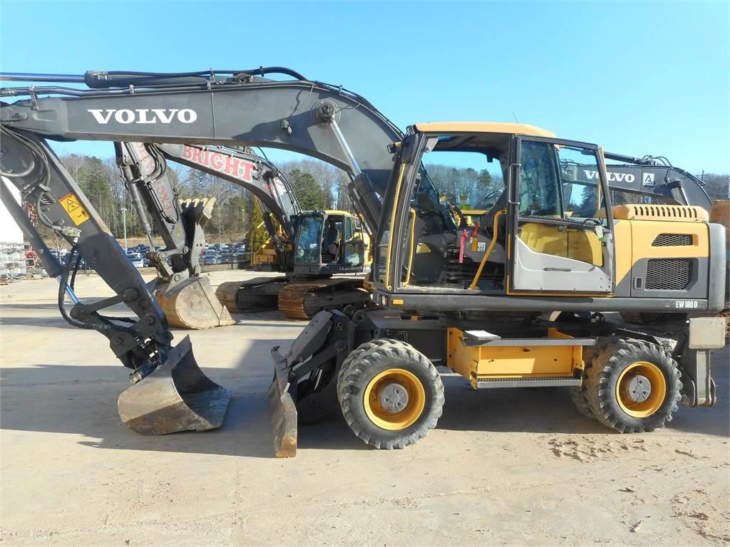 Volvo EW180D, Wheeled Excavators, Construction Equipment