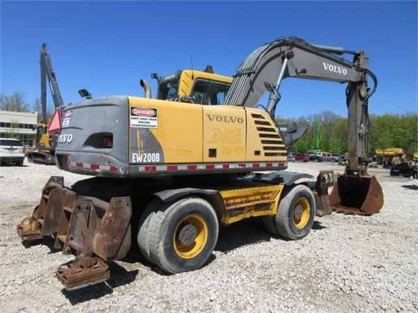 Volvo EW200B, Wheeled Excavators, Construction Equipment