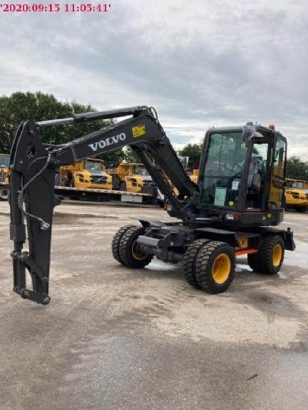 Volvo EW60E, Wheeled Excavators, Construction Equipment
