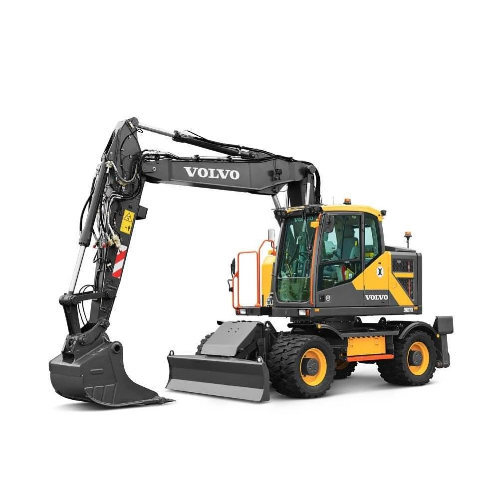 Volvo EWR170E, Wheeled Excavators, Construction Equipment