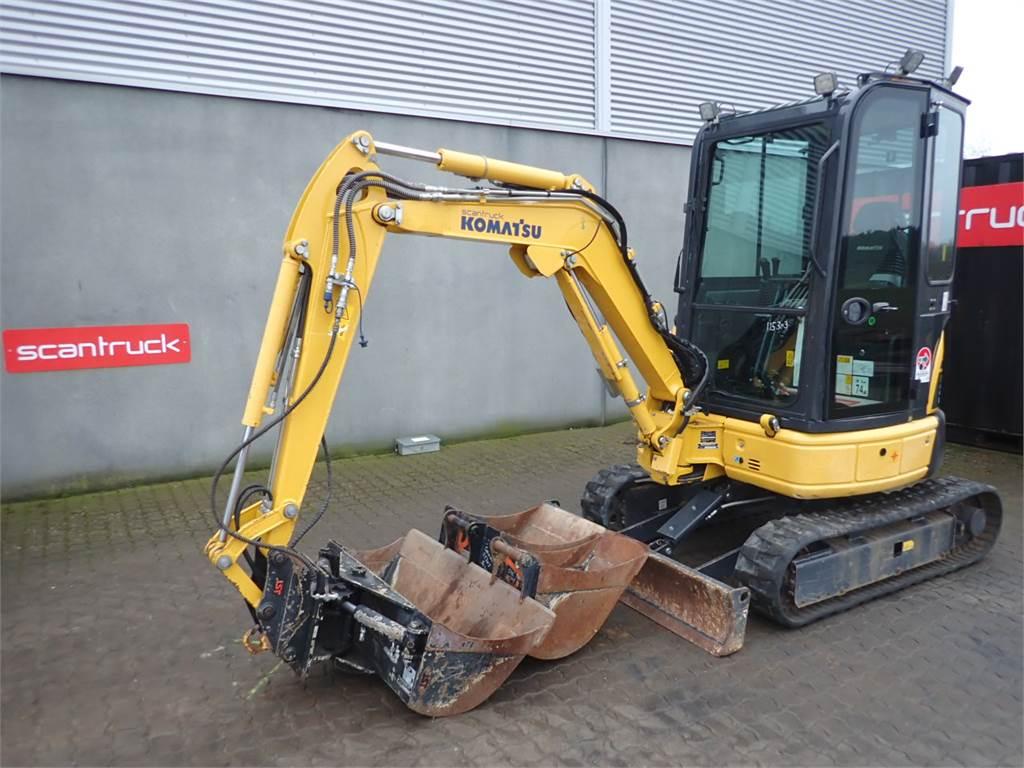 Komatsu PC22MR-3, Mini excavators, Construction Equipment