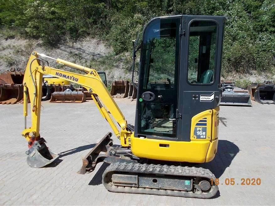 Komatsu PC16R-3HS, Mini excavators, Construction Equipment