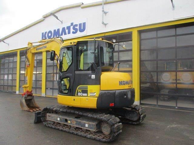 Komatsu PC80MR-3, Midi excavators, Construction Equipment
