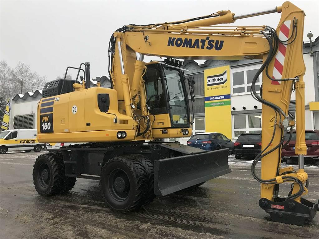 Komatsu PW160-11, Wheeled Excavators, Construction Equipment