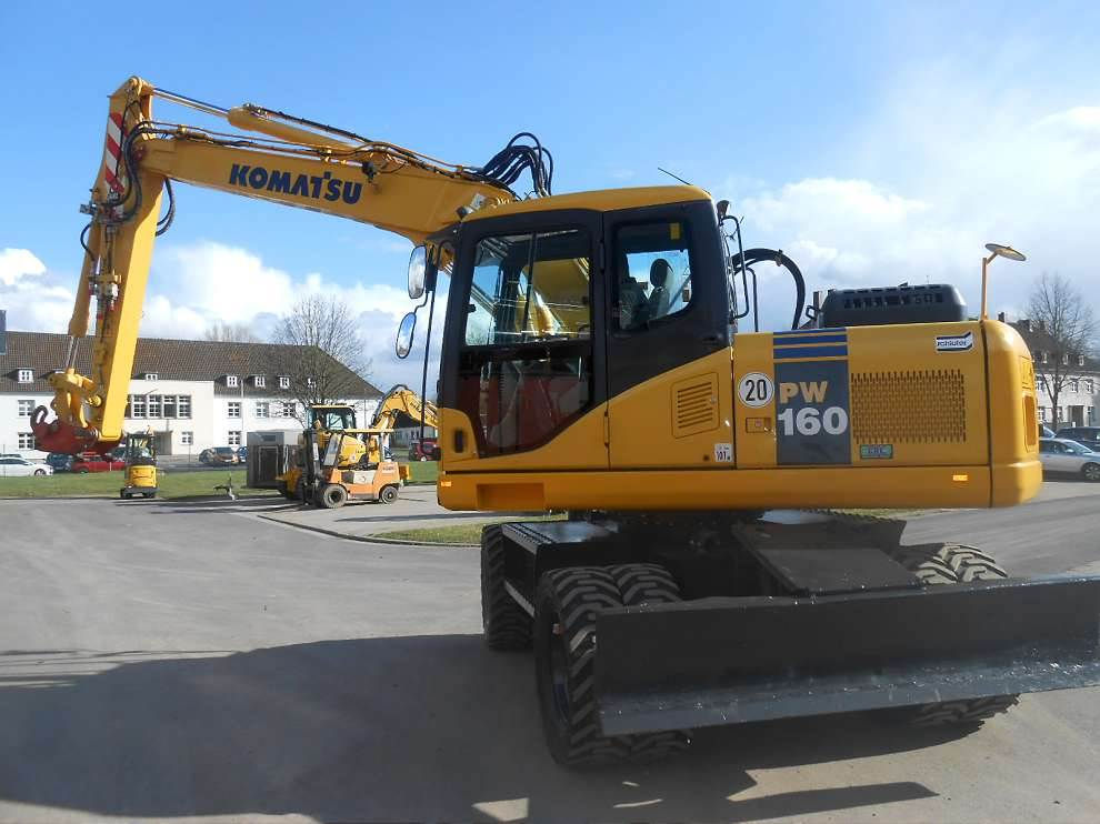 Komatsu PW160-7E0H, Wheeled Excavators, Construction Equipment
