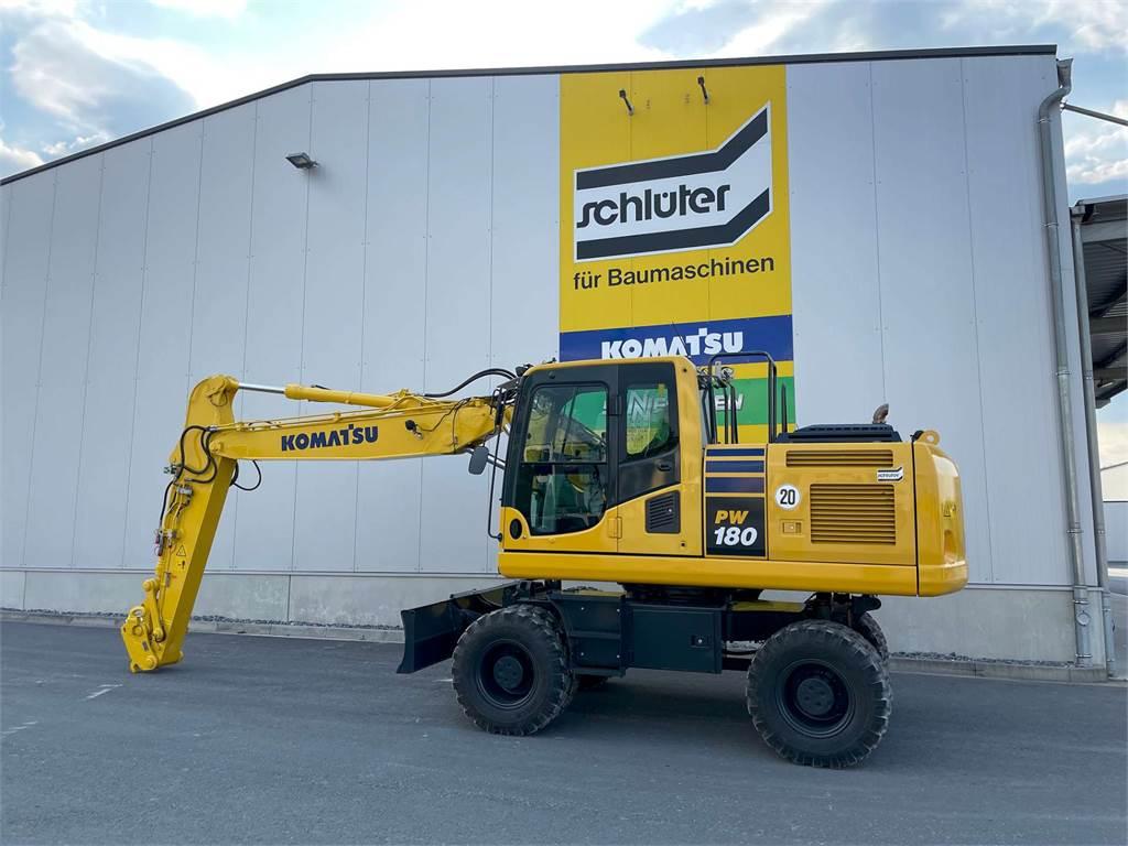 Komatsu PW180-10, Wheeled Excavators, Construction Equipment