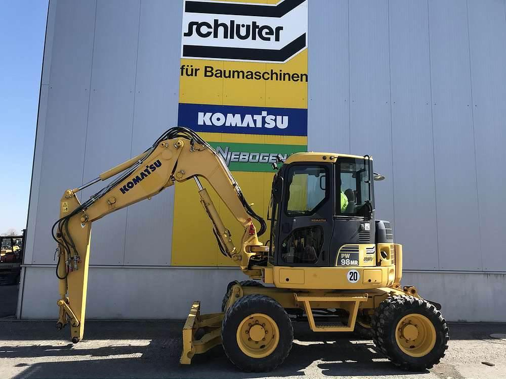 Komatsu PW98MR-6, Wheeled Excavators, Construction Equipment