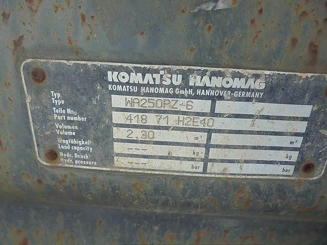 Komatsu WA250PZ-6, Other, Construction Equipment