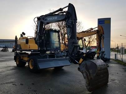 Volvo EW140D, Wheeled Excavators, Construction Equipment