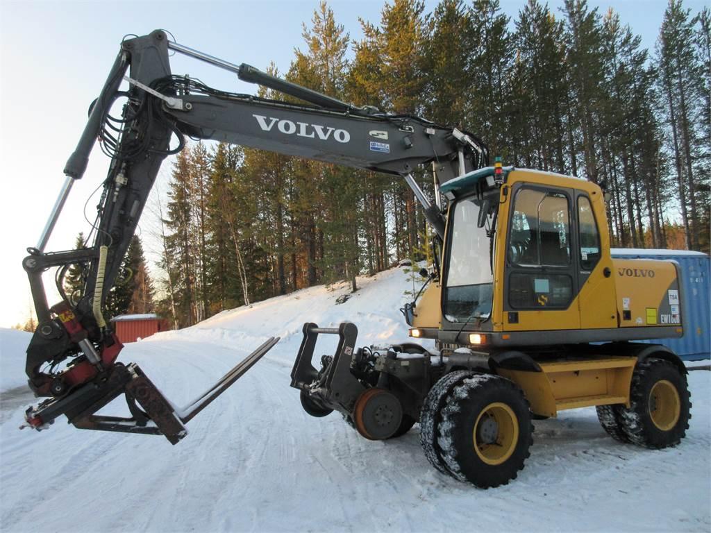 Volvo EW160B, Wheeled Excavators, Construction Equipment