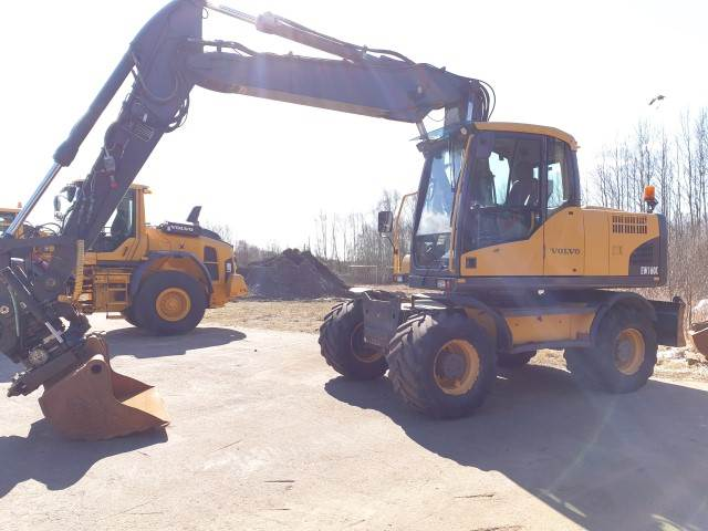 Volvo EW160C, Wheeled Excavators, Construction Equipment