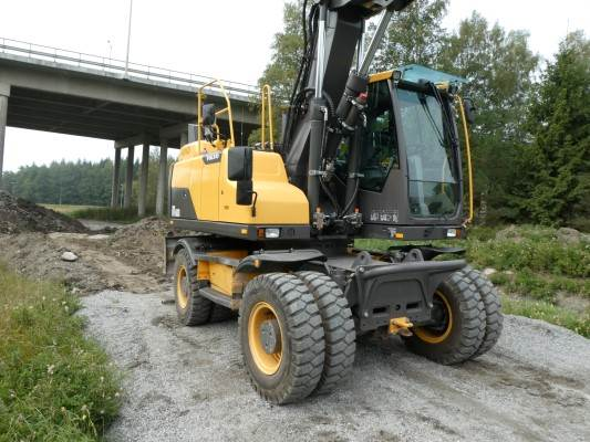 Volvo EW160D, Wheeled Excavators, Construction Equipment