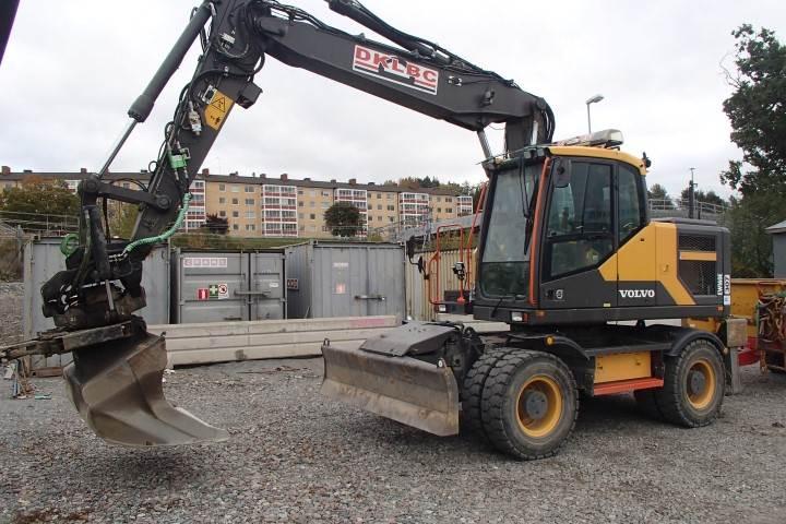 Volvo EW160E, Wheeled Excavators, Construction Equipment
