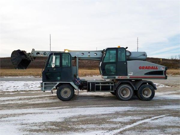 Gradall XL4100, Wheeled Excavators, Construction Equipment