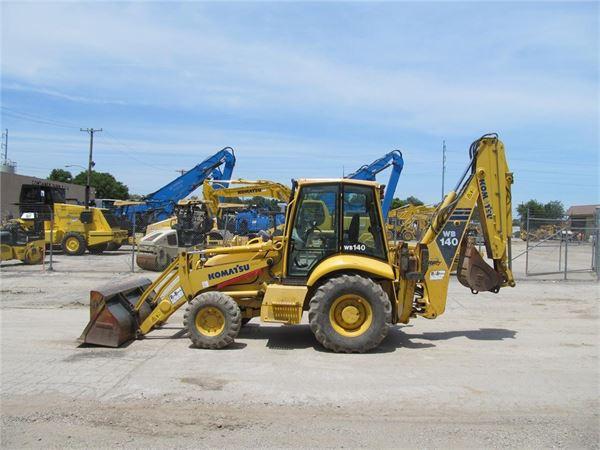 Komatsu WB140-2, Backhoe Loaders, Construction Equipment