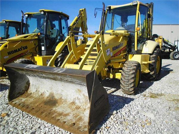 Komatsu WB140PS-2, Backhoe Loaders, Construction Equipment