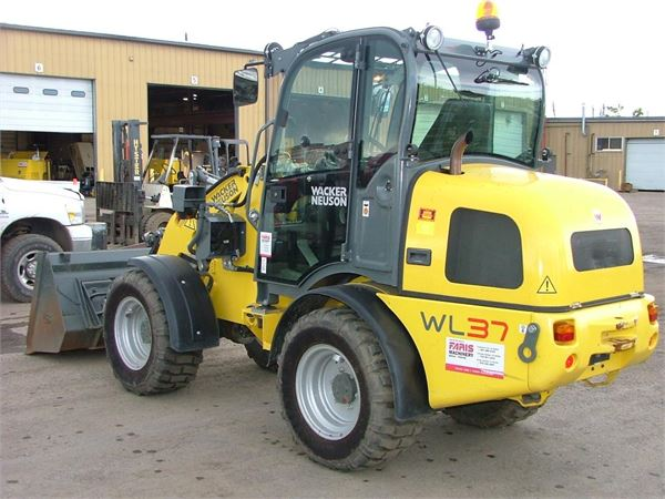 wacker neuson wl37 wheel loaders construction. Black Bedroom Furniture Sets. Home Design Ideas