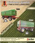 Pronar T 680 P, 2016, Billenő Mezőgazdasági pótkocsik