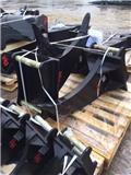 BM skopor, snabbfästen, rotortilt, tillbehör, Pelle rétro arrière