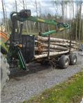 Farma 8.5 Ton Med 5.1M Kran., 2004, Forest trailers