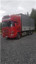Тентованный грузовик Scania R 144-460, 1999 г., 1600000 ч.