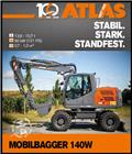 Atlas 140 W, 2019, Excavadoras de ruedas