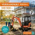 Other VÅRKAMPANJ! Kubota KX019-4 med tiltrotator, 3 års, 2020, Minikaivukoneet < 7t