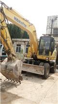 Komatsu PW 160-7, 2006, Wheeled excavators