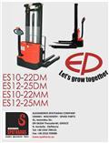 EP ES1225DM, 2018, Empilhador para operador externo