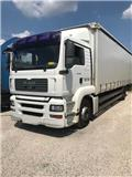 MAN TG 18 320 19 T TAUTLINER 9M UTILE, 2008, Camion à rideaux coulissants (PLSC)
