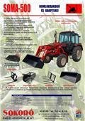 SOKORÓ SOMA-500S, 2009, Egyéb traktor tartozékok