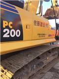 Komatsu PC 200-8, Pásové rýpadlá